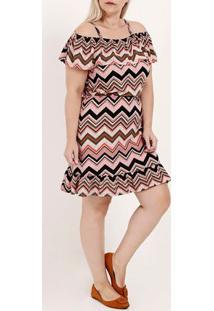 Vestido Plus Size Feminino Autentique Rosa