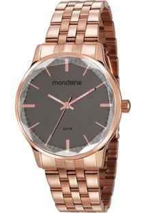 Relógio Feminino Mondaine 53642Lpmvre2 40Mm Aço Rose - Tricae