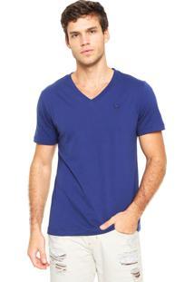 Camiseta Cavalera Básica Azul