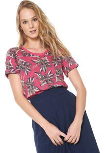 445f512d5 ... Camiseta Maria Filó Estampada Rosa