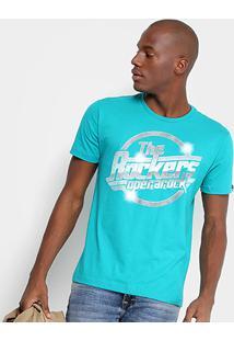 Camiseta Opera Rock The Rockers Masculina - Masculino-Azul Turquesa