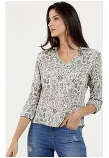 Camisa Feminina Estampa Floral Marisa