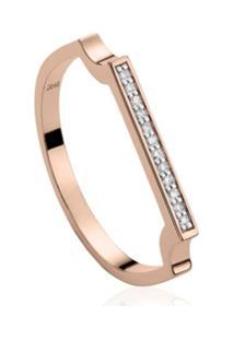 Monica Vinader Anel Signature Fino Com Diamantes - Rosa