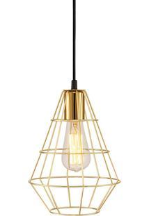 Pendente Para Iluminação Industrial Metal Latão 4986 - Mart - Dourado