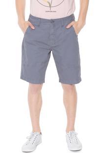 Bermuda Calvin Klein Jeans Reta Color Cinza