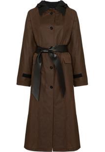 Kassl Editions Trench Coat Falkirk Encerado - Marrom