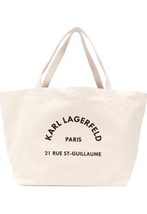 Karl Lagerfeld Bolsa Tote K/Rue St Guillaume - Neutro