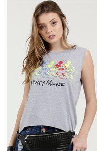 Regata Feminina Estampa Mickey Neon Disney