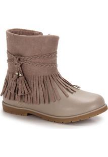 Ankle Boots Infantil Pampili - 23 Ao 30 - Bege