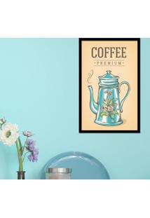 Quadro Pump Up Emoldurado Coffe Preta - Preto - Dafiti