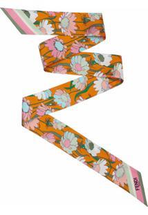 Fendi Blusa De Seda Com Estampa Floral - Marrom