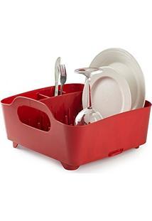 Escorredor De Louças Tub Vermelho Umbra