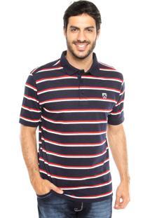 Camisa Polo Mr Kitsch Fio Tinto Azul/Branca/Vermelha