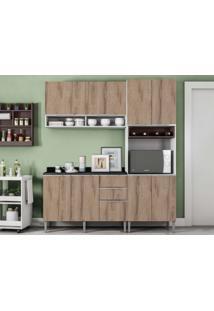 Cozinha Compacta 8 Portas Essence Branco/Desira/Trufa/Pt - Aroma