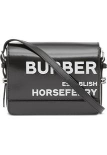 Burberry Bolsa Transversal Grace Pequena Com Estampa Horseferry - Preto
