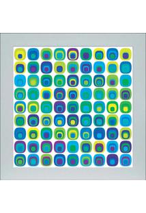 Quadro 65893 Abstrato 33X33 Cm Branco