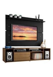 Rack Madesa Cancun E Painel Para Tv Até 65 Polegadas - Rustic/Preto Marrom