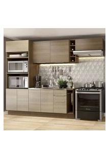 Cozinha Completa Madesa Stella 290002 Com Armário E Balcão Rustic/Saara Cor:Rustic/Saara/Rustic