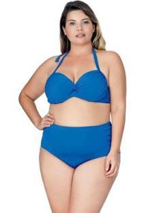 Calcinha Plus Size De Compressão Royal Agridoce - Feminino-Azul