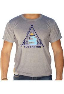 Camiseta Masculina Eco Canyon Draw Cinza