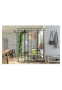 Estante De Metalon E Madeira Para Sala De Estar Ladder - Rosa Milkshake - 1,50X0,40X2,00M
