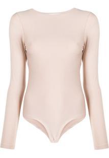 Atu Body Couture Body Mangas Longas - Neutro