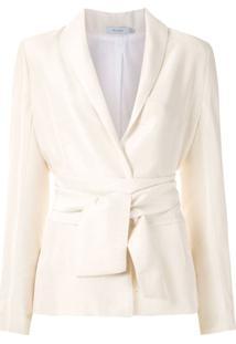 Isolda Blazer Astrid Com Amarração - Branco