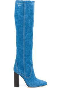 Philosophy Di Lorenzo Serafini Bota Cano Longo Jeans - Azul