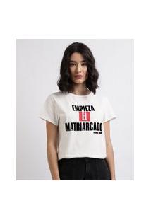 Blusa Feminina La Casa De Papel Manga Curta Decote Redondo Branca