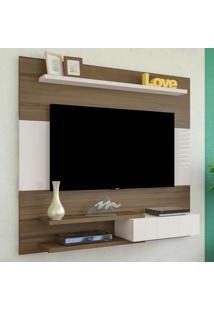 Painel Para Tv Até 50 Polegadas 1 Porta Monza Amendoa/Off White - Artely
