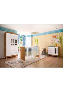 Dormitório Decorado Infantil Ariel Unissex Amadeirado Rústico