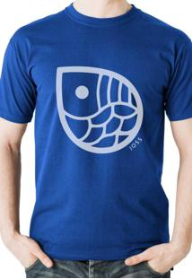 T-Shirt Joss Gota White Azul Royal