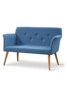 Sofa Cartola Linho Azul Base Tauari 126Cm - 61333 61333