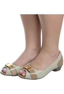 57265d42d Peep Toe Marfim feminino