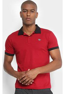 Camisa Polo Polo Rg 518 Maquinetada Logo Metal Masculina - Masculino-Vermelho