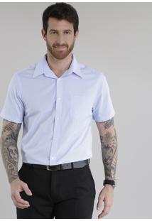 Camisa Comfort Texturizada Azul Claro