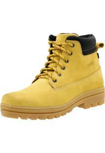 Bota Atron Shoes Adventure Ride Work Em Couro Amarelo bfd22c69f6d3a