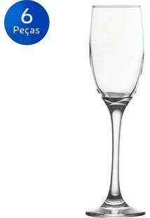 Jogo De Taças Para Vinho 385Ml Barone 6 Peças - Nadir - Transparente