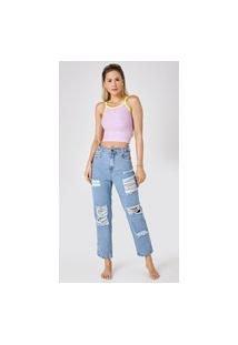 Calça Jeans Express Mom Lya Azul