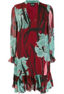 Just Cavalli Vestido Com Estampa Floral - Vermelho