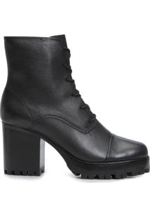 Bota Feminina Burned - Preto