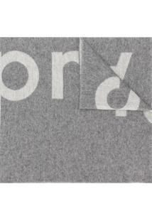 Acne Studios Cachecol Toronty Com Logo - Cinza