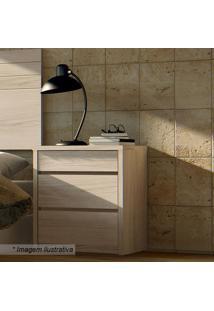 Criado Mudo Premium Com Gavetas- Rovere- 59X50,4X40,Casa D