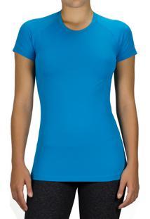 Blusa Praxis Basic Dry Comfort Com Proteção Uv50 Azul Turquesa