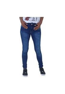 Calça Feminino Jeans Skinny Cintura Média Lisa Com Lavagem Biotipo