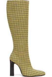 Balenciaga Bota De Lã Com Padronagem Pied De Poule - Amarelo