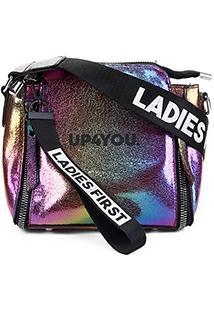 Bolsa Up4You Mini Bag Transversal Color Feminina - Feminino-Bronze
