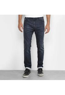 Calça Jeans Slim Ellus Lavada Masculina - Masculino-Jeans