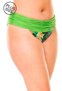 Calcinha Lehona Cinta Drapeada Verde - Verde - Feminino - Dafiti