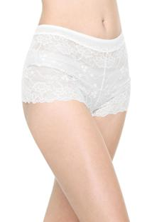 Calcinha Calvin Klein Underwear Caleçon Renda Branca